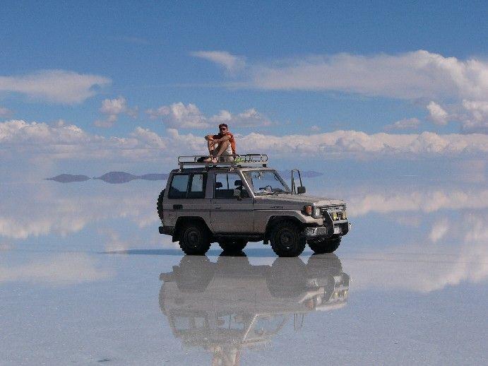 En Bolivie, dans le Salar de Uyuni
