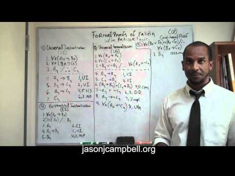 8. Logic Lecture: Predicate Logic: Formal Proofs of Validity: Conditional Proof - YouTube