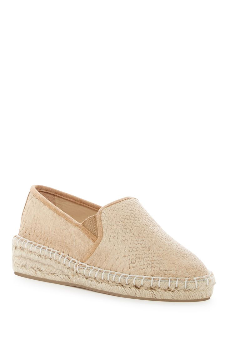 Kimn Genuine Calf Hair Wedge Loafer