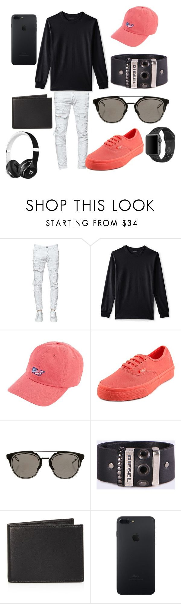 """""""Tris"""" by vejacomotenpovoa ❤ liked on Polyvore featuring Dsquared2, Lands' End, Vineyard Vines, Vans, Christian Dior, Diesel, The Men's Store, NIKE, men's fashion and menswear"""