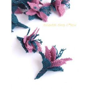 画像: 手作りアクセに☆シルク糸:イーネオヤ単体|ユルバシュチチェーイ|ライラック・ピーコックブルー