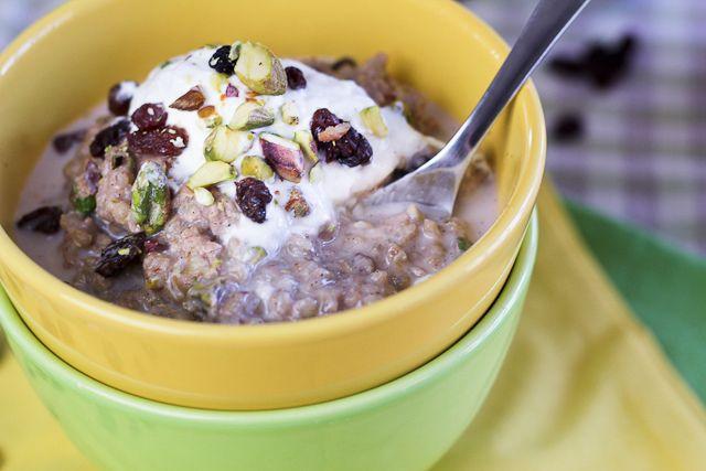 creamy, dreamy, spicy buckwheat breakfast pudding