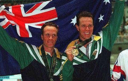 Swimming Idols - Daniel Kowalski & Kieren Perkins - 2nd & 1st in the 1500m in 1996 Olympics.