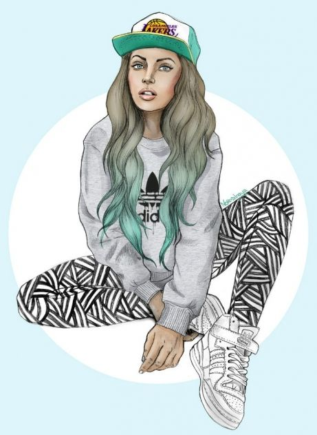 Swag Girl Drawing - Google Search | Art-spiration | Pinterest | Rap Music Girl Drawings And ...