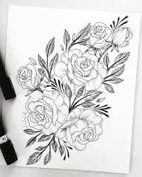 Resultado De Imagen Para Dibujos De Ramos De Rosas Hermosas Para