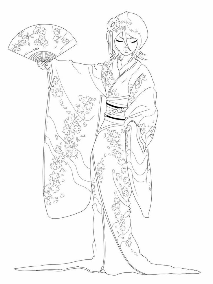 Kimono dance lineart by brueissa deviantart desen boyama 13 pinterest kimonos art and - Coloriage top model a imprimer ...