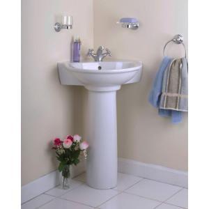 Pegasus evolution corner pedestal combo bathroom sink in white home pedestal and pegasus for Pegasus bathroom vanity combo