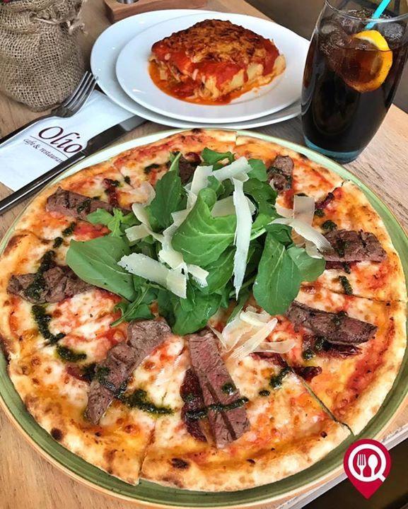 """Robespierre Pizza ( Roka parmesan pesto sos bonfile) - Olio Cafe & Restaurant / İstanbul - Kadıköy (Minibüs Caddesi - Erenköy )  Çalışma Saatleri 09:00-23:00  0 216 909 01 28  30  Alkolsüz Mekan  Paket Servis Yok  Multinet Ticket Sodexo Var  Açık Alan Var   Otopark Var DAHA FAZLASI İÇİN YOUTUBE """"YEMEK NEREDE YENİR"""" TAKİP ET"""