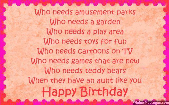 Happy Birthday Auntie Poem