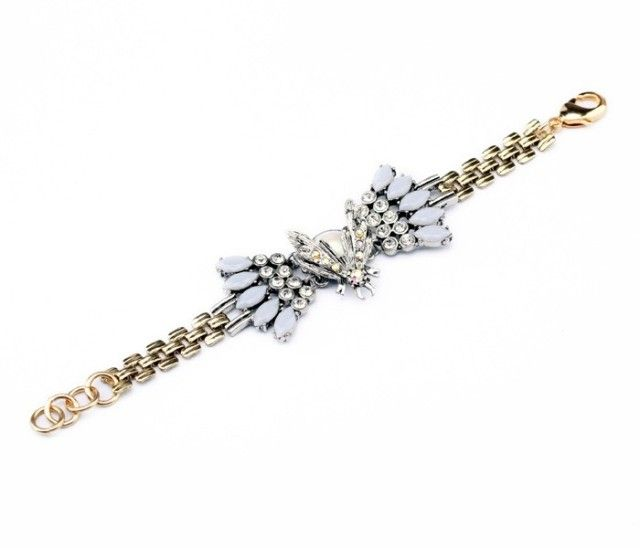 Nice Crystal Bracelet With Bee Element