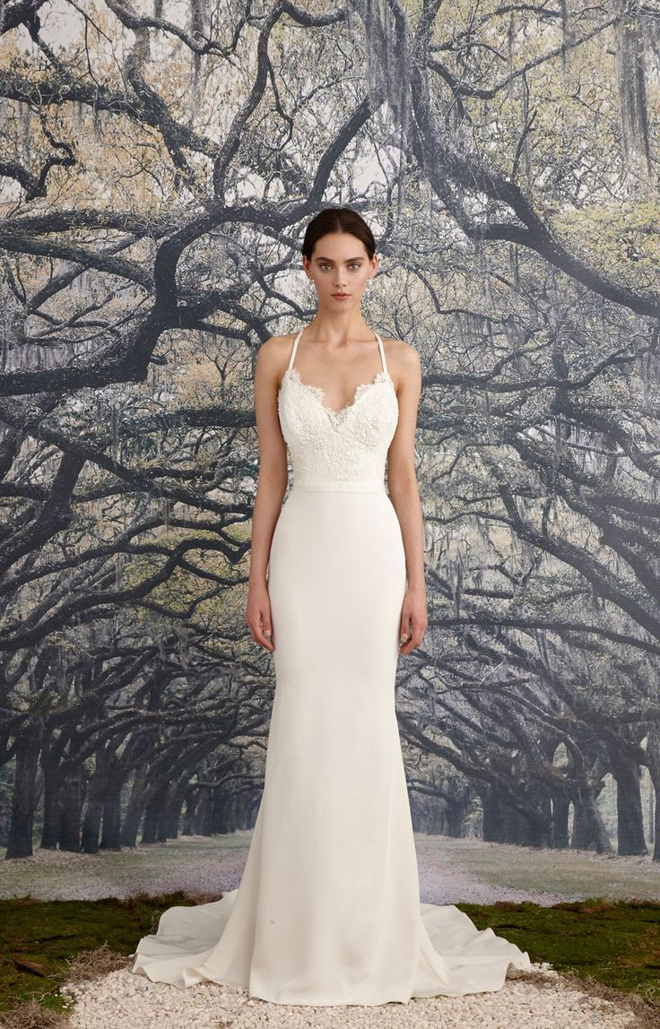 Amazing Mermaid gown with a beaded corded scalloped lace bodice and simple waistband Scalloped deep