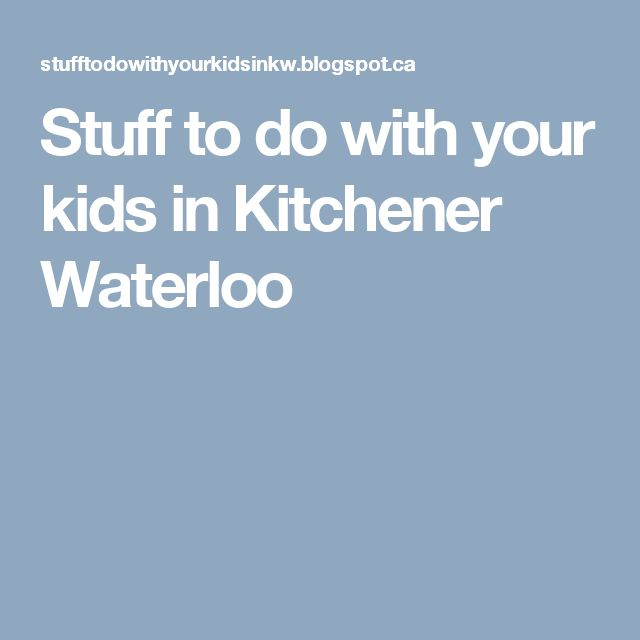 Stuff to do with your kids in Kitchener Waterloo - Enter the contest to win a free class from Safety Tree!