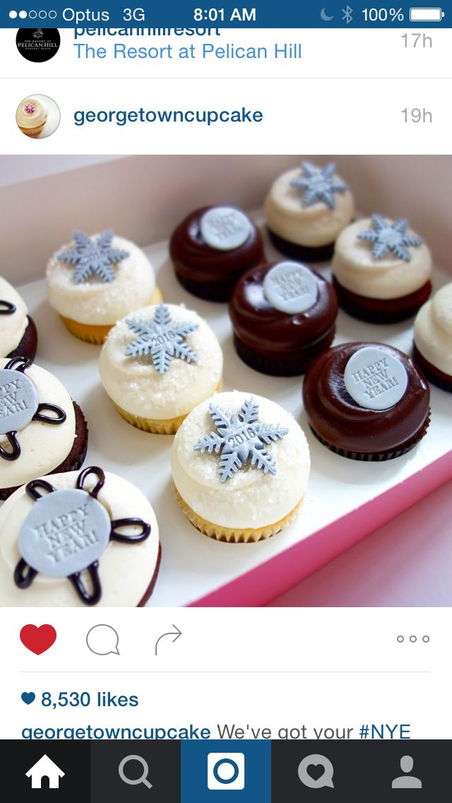 Pretty New Years cupcakes