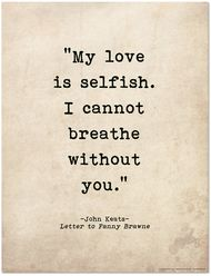 Romantic Quote Poster - John Keats Literary Print for Home or School