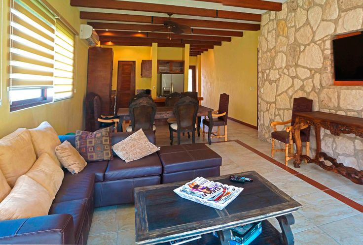Livingroom. Hacienda del Rio, Retirement and Custom Homes. Playa del Carmen real estate area.