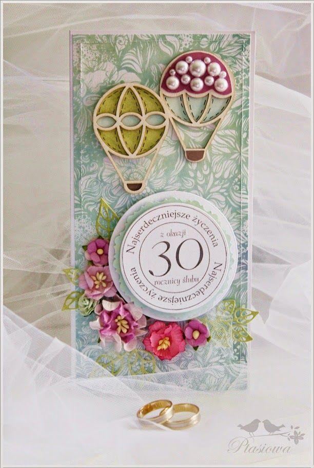 Ptasiowa: Kartka na 30-stą rocznicę ślubu moich Rodziców