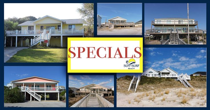 Oooh...Aaah...Just look at these Emerald Isle vacation rental specials!!