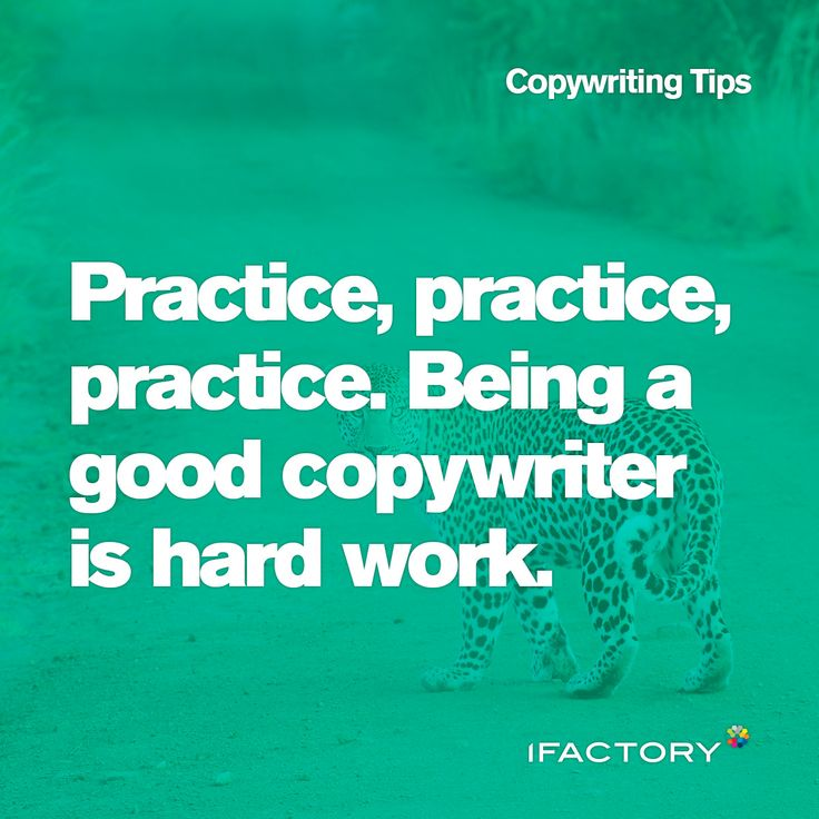 Copywriting Tips; Practice, practice, practice. Being a good copywriter is hard work. #ifactory #digital #ifactorydigital #australia #bne #practice #copywriter #hardwork #seo #content 3copy #copywriter #tips #tricks