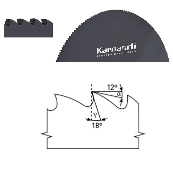 Sägeblatt Kreissägeblatt Metallkreissägeblatt HSS Dmo5 Dampfbehandelt  200-370mm