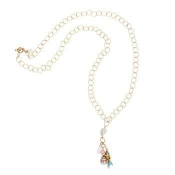 Fruits de Mer long chain necklace