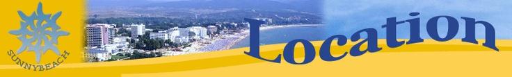 Location of Sunny Beach resort, Burgas, Bulgaria.