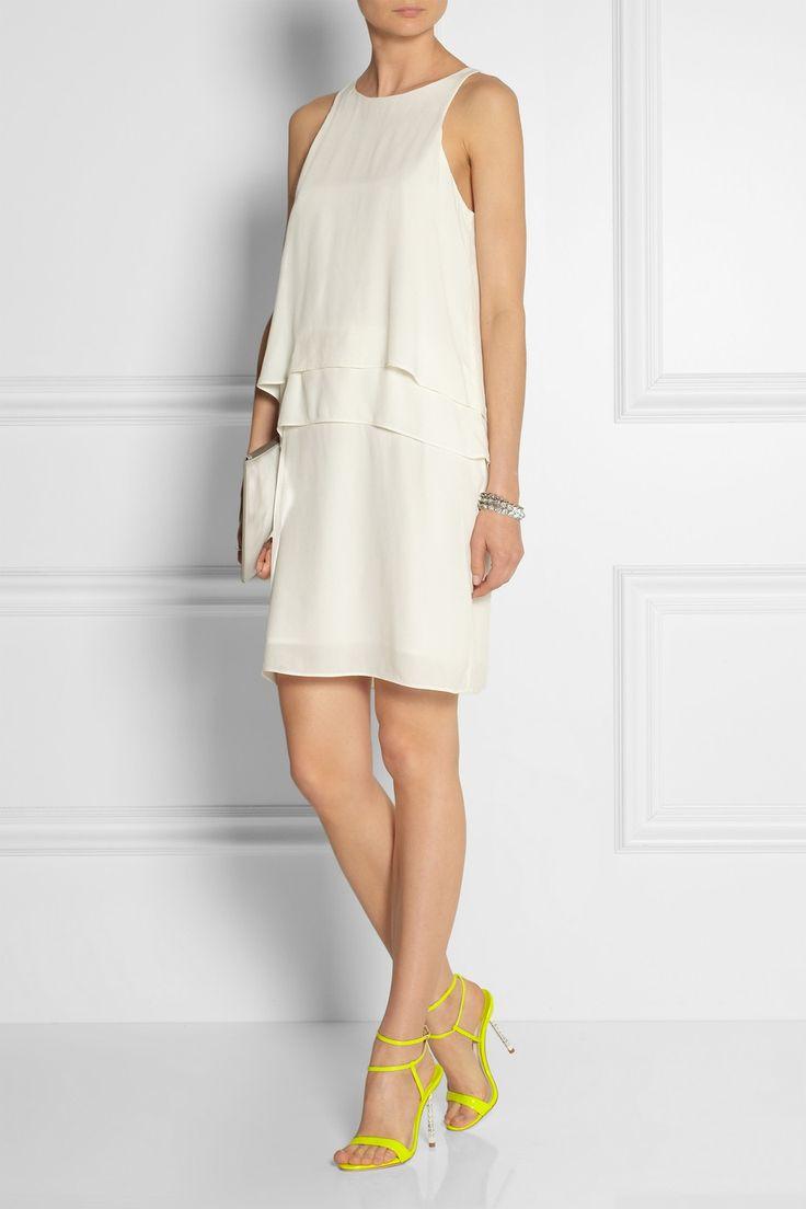 Tibi|Tiered crepe dress|NET-A-PORTER.COM