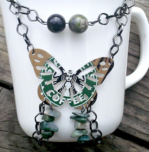 fabulous!: 16 00, Gift, Butterfly Necklace, Starbucks Project, Diy Jewelry, Absolutejewelry, Aluminum Cans