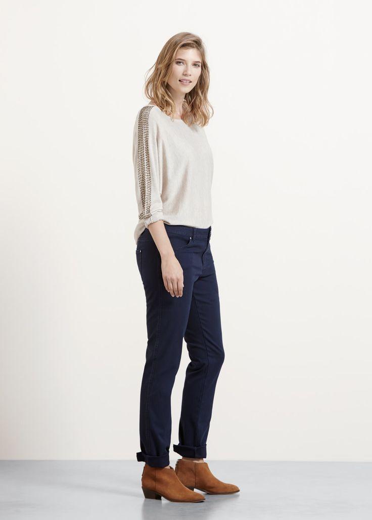 Proste bawełniane spodnie | VIOLETA BY MANGO