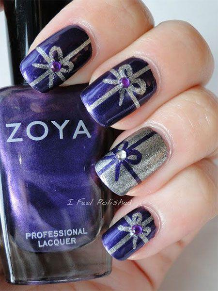 christmas presents nail art   ... Xmas Nails 2 12 Easy Christmas Present Nail Art Designs, Ideas, Trends