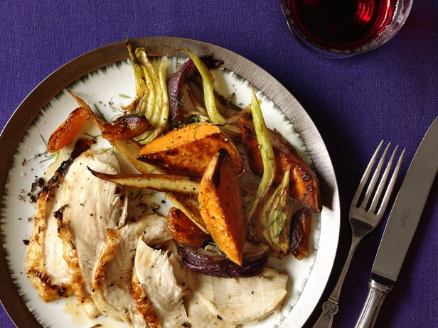 Roast Turkey Breast With Glazed Vegetables Recipe : Food Network Kitchen : Food Network - FoodNetwork.com
