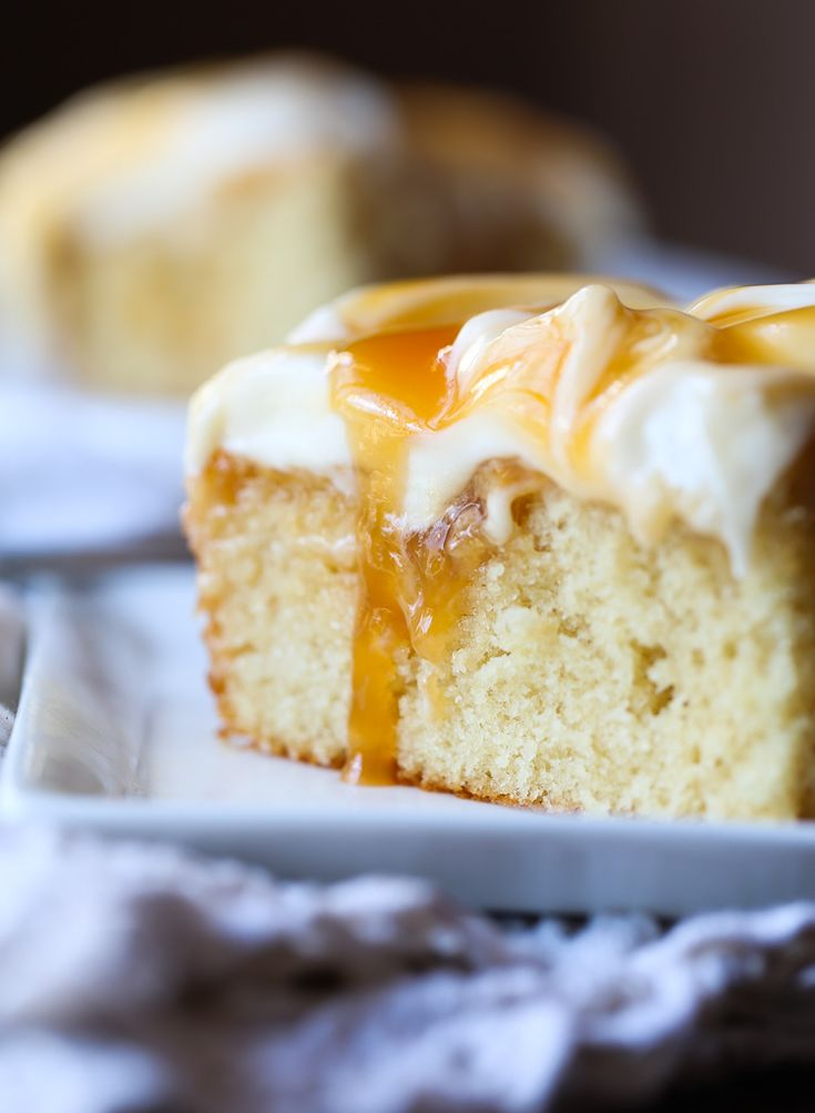 This Quick and Easy Caramel Cake topped with creamy cream cheese frosting is sweet, delicious and gets better the longer it sits! So I just got back from vacation. I feel like it's the best and worst feeling ever. Like you're SO glad to be home, sleeping in your own bed and showering with all …