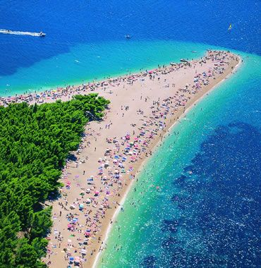 Bol, a comma-shaped beach in Croatia. Can't wait to swim there :)
