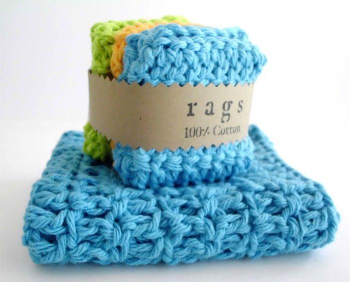 Crochet Wash Cloths - Dish Cloths - Face Cloths - Miniature.  via Etsy.