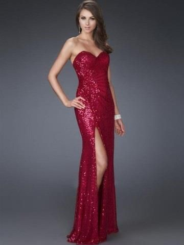 The 185 best Red prom dresses images on Pinterest | Red prom dresses ...