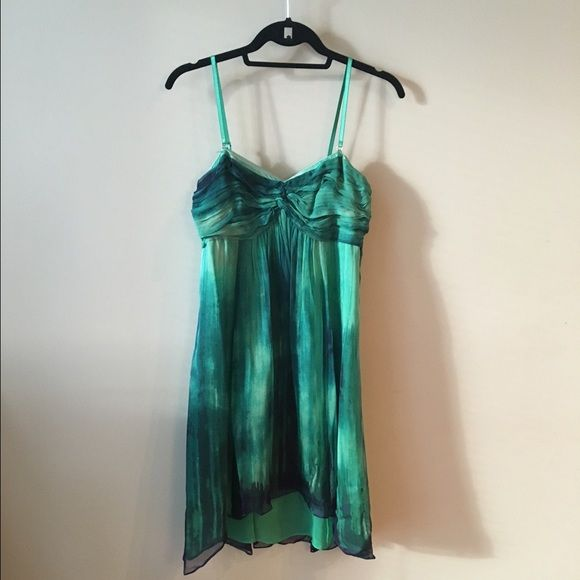 Plenty by Tracy Reese Green Watercolor Dress BNWT Gorgeous watercolor dress in shades of green from Tracy Reese. Detachable straps, looks fabulous strapless. 100% silk shell. Size 4. Tracy Reese Dresses Mini