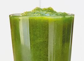 Totally Green: cucumber, green apple, kale, spinach, celery, kiwi @ tropical smoothie cafe