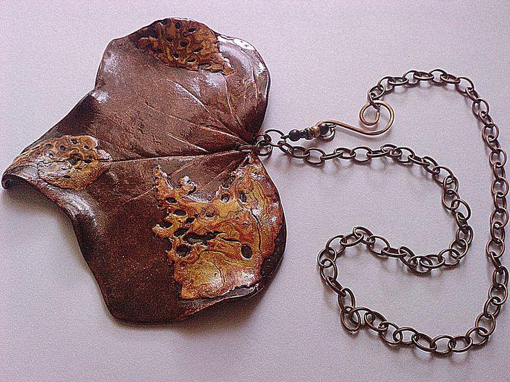 Irena Ryszkiewicz - Polimer clay  #jewelry #bizuteria #cooper #mokumegane
