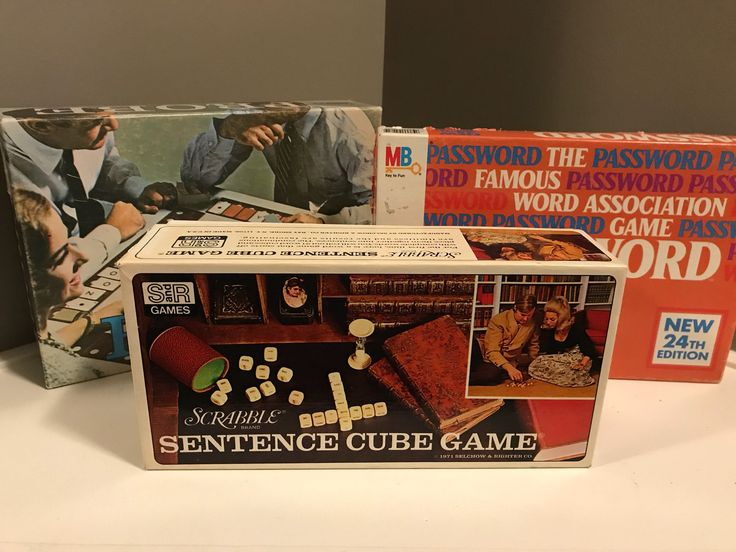 Game night! Lot of three vintage word games: Probe, Password, Sentence Cube Game (by Scrabble) // 1960s, 70s, 80s  link to store is in bio. #etsy #nostalgiaismyjam #classicboardgames