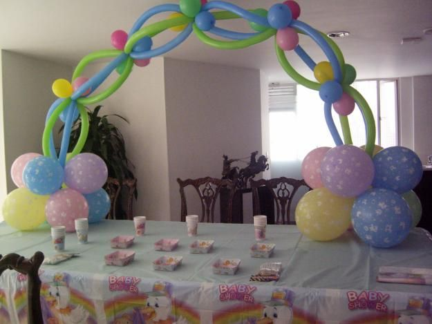 1000 images about decoracion con globos on pinterest for Decoracion para baby shower en casa