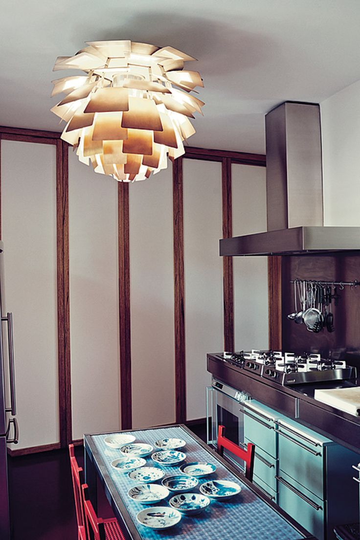33 best gallery nina yashar nilufar images on pinterest in the kitchen an artichoke ceiling lamp by poul henningsen with table and chairs by geotapseo Gallery
