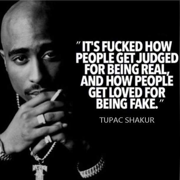 Support the real - Tupac Shakur quote.