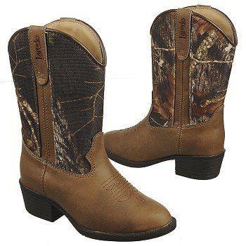 Laredo Little Concho Tod/Pre Boots (Tan/Camo) - Kids' Boots - 1.5 D