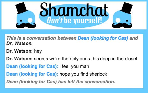 A conversation between Dr. Watson and Dean (looking for Cas)