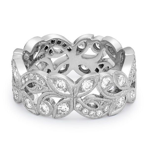 18-carat white gold and diamond ring by Ungar & Ungar. www.kellerwood.com
