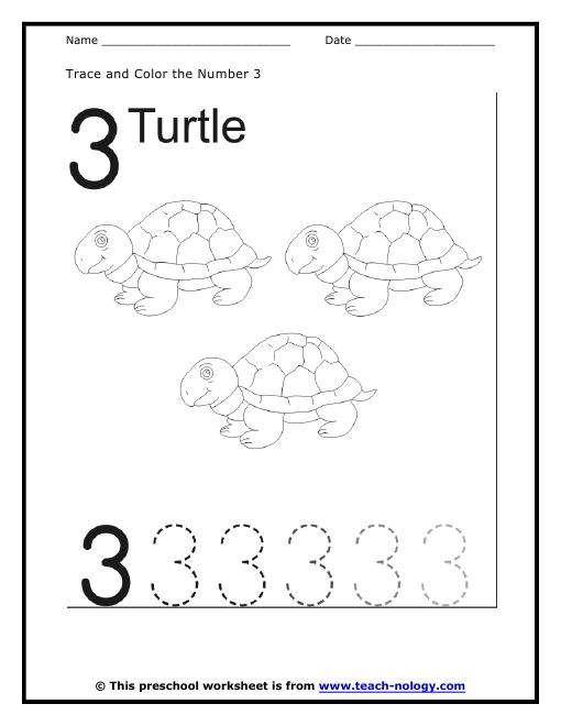 17 Best Images About Number 3 Worksheets On Pinterest