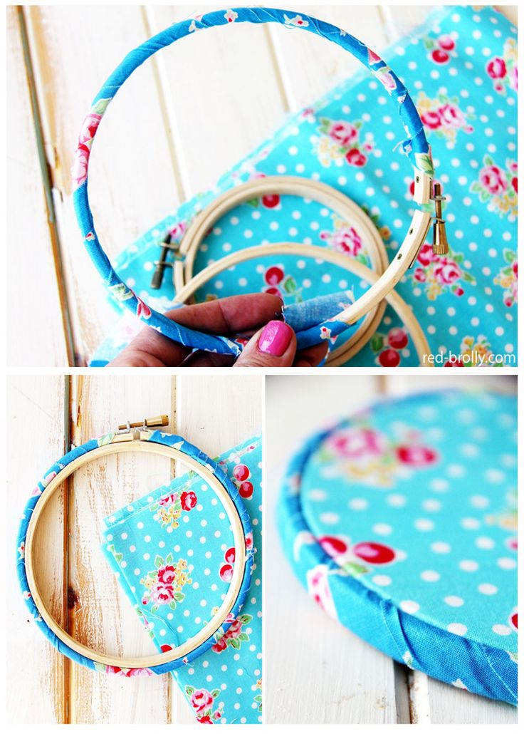 Binding an embroidery hoop and setting it up correctly