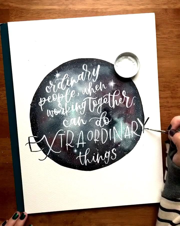 Obama quote in modern calligraphy