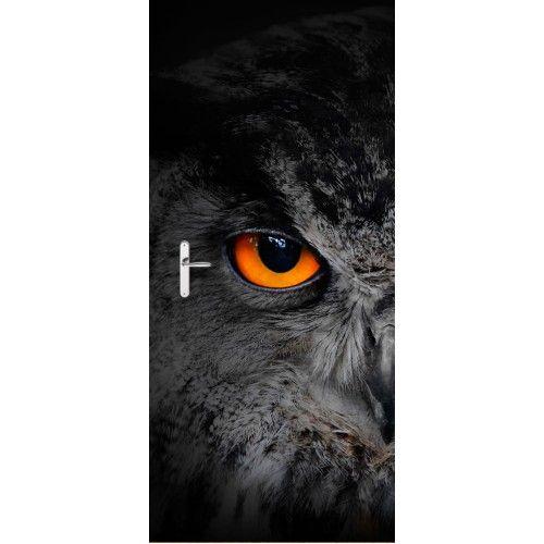 Deursticker Uil | Een deursticker is precies wat zo'n saaie deur nodig heeft! YouPri biedt deurstickers zowel mat als glanzend aan en ze zijn allemaal weerbestendig! Verkrijgbaar in verschillende afmetingen.   #deurstickers #deursticker #sticker #stickers #interieur #interieurprint #interieurdesign #foto #afbeelding #design #diy #weerbestendig #uil #duister #dier #vogel #uilen #oog