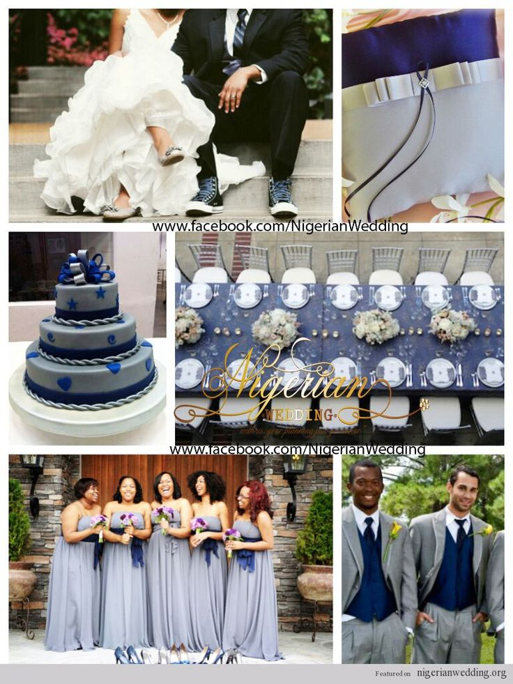 nigerian wedding navy blue and grey wedding color scheme