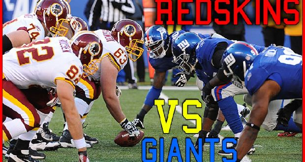 Giants vs Redskins football game live | Live Football Game Online